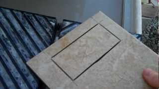 How to cut a hole in the middle of a tile