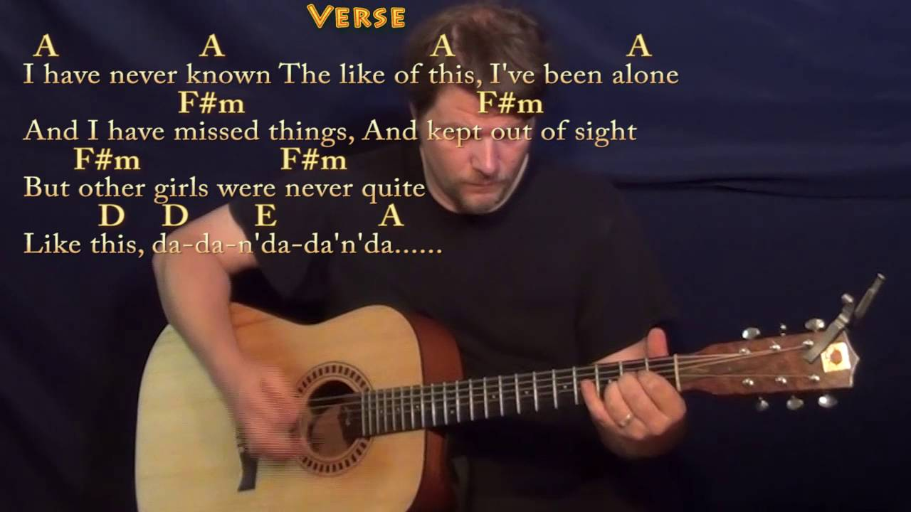 Ive Just Seen A Face The Beatles Guitar Lesson Chord Chart In A