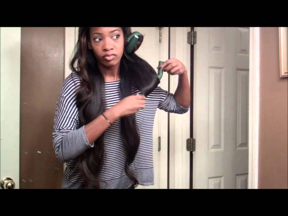 How I Flexi Rod My 30inch Hair! - YouTube