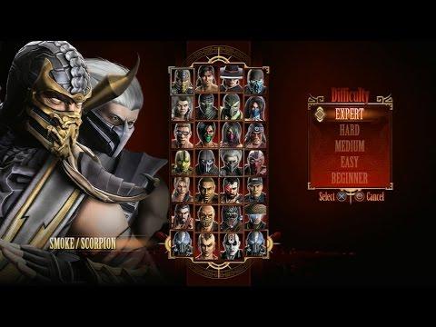 Mortal Kombat 9 - Expert Tag Ladder (Smoke & Scorpion/3 Rounds/No Losses)