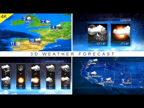 3D Weather Forecast | After Effects Template