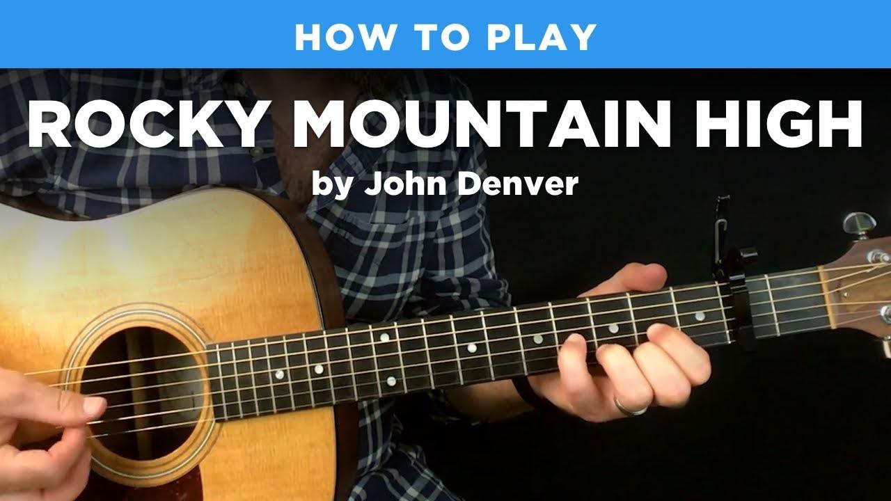 🎸 Rocky Mountain High • John Denver guitar lesson w/ tabs
