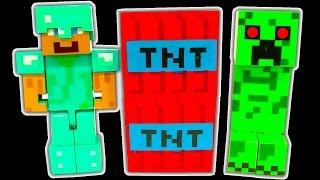 "Minecraft Dark Side Knock Off Toys 1 TNT Creeper Lego Minifigure ""Lets Destroy"""