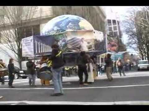 The Procession for the Future: Pentagon and Globe