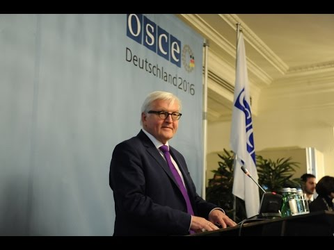 News conference by the Chairperson-in-Office Frank-Walter Steinmeier