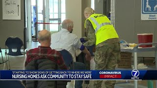 Nursing homes ask community to stay safe
