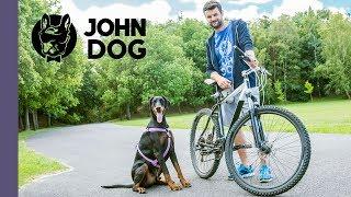 Jak jeździć na rowerze z psem na smyczy? - TRENING - John Dog