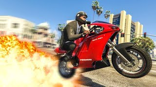 SUPER CLEAN MOTORBIKE STUNT! - (GTA 5 Stunts & Fails)