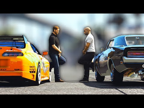 THE FAST AND THE FURIOUS DRAG SCENE - UNSEEN FOOTAGE - Grand Theft Auto 5