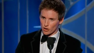 eddie redmayne wins big at the golden globes 2015