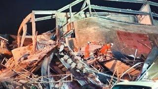 Обрушение отеля в Китае || Под завалами оказались не менее 70 человек