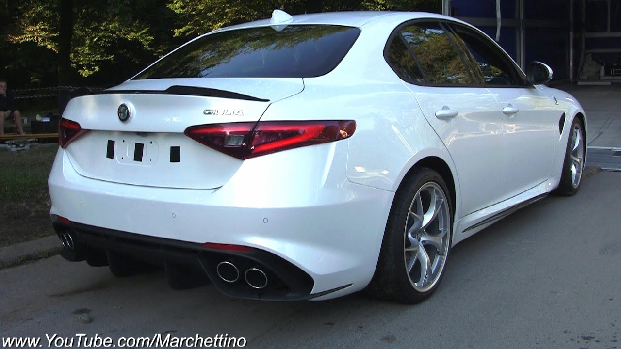 alfa romeo giulia cold start up sound and moving! - youtube