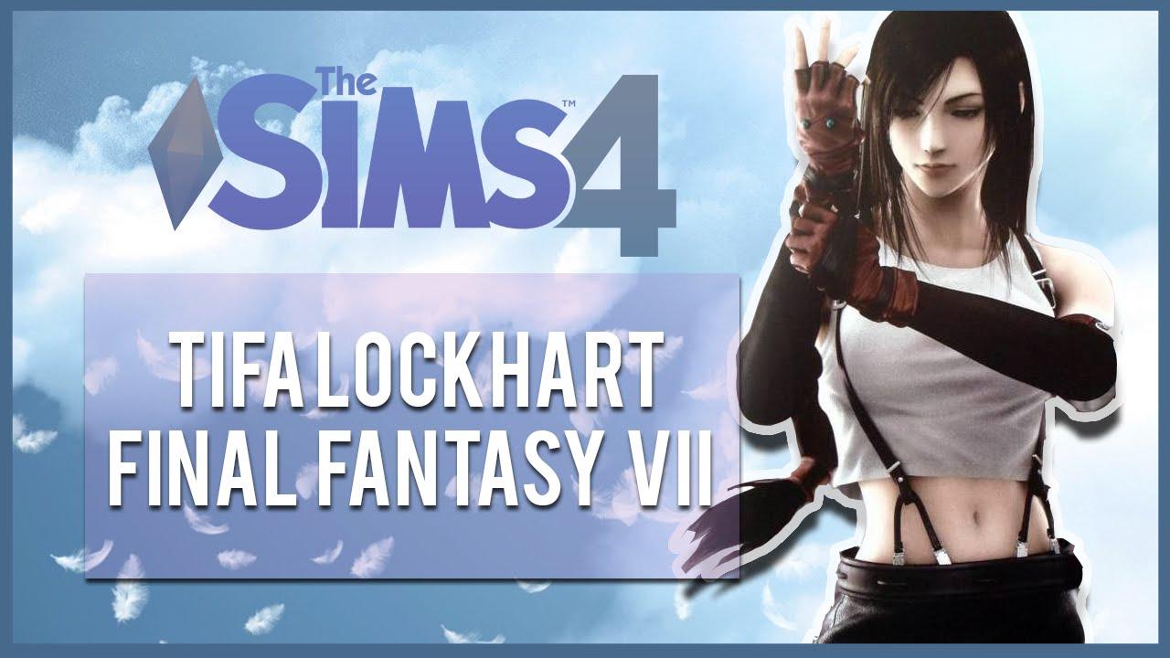 The Sims 4 Final Fantasy CAS Tifa Lockhart YouTube
