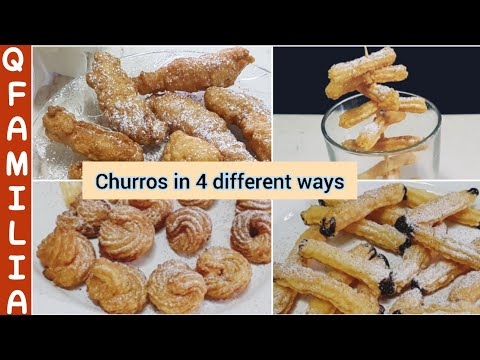 Churros In 4 Different Ways | Easy And Perfect Recipe Of Homemade Churros