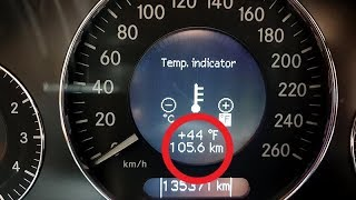 How to Change Fahrenheit to Celsius and backward in Mercedes W211, W219, CLS