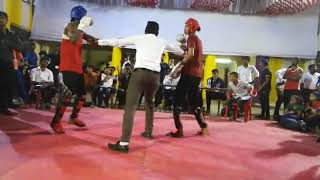 ENORMOUS MIXED MARTIAL ARTS ACADEMY ( EMMA Krishna Kamat vs Vishal) KBASM Kickboxing Fight In Mumbai