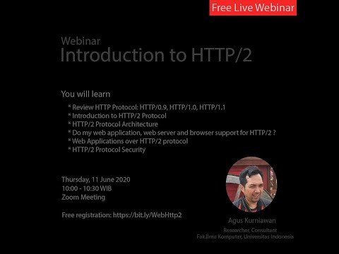 Webinar:: Introduction To HTTP/2 Protocol