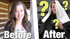 She got a REAL haircut for the first time *big change*