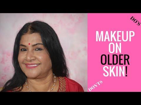 MAKEUP ON OLDER MATURE INDIAN / BROWN SKIN TUTORIAL | MY MOMS MAKEUP | NYX TOTAL CONTROL DROP thumbnail
