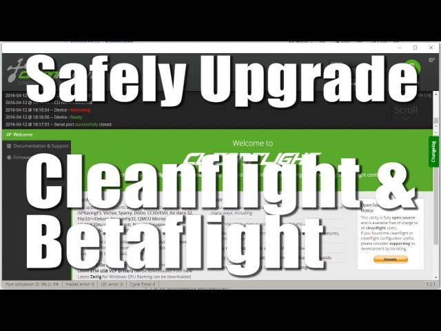 Safely Upgrade Betaflight and Cleanflight