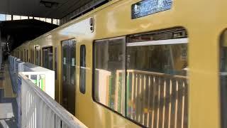 西武新宿線高田馬場駅2000系各駅停車西武新宿駅行き発車。