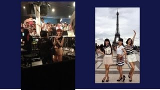 ①エッフェル塔をバックに Perfume Perfume near the Eiffel Tower ②パリ...