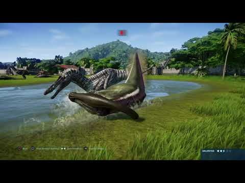 jurassic-world-evolution:-suchomimus-pack-vs-parasaurolphus-herd