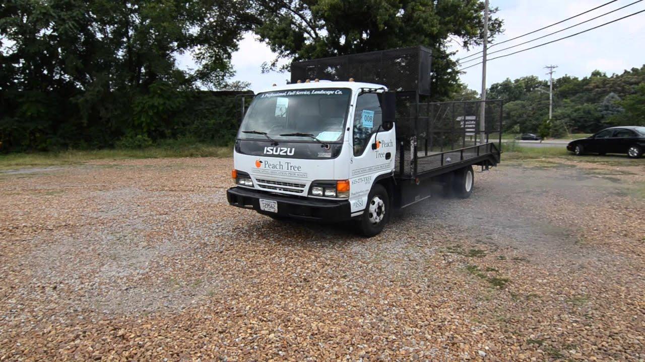 Lot 8: 1995 Isuzu NPR Landscape Truck- Driving