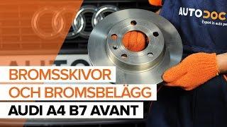 Byta Bromsbeläggsats on AUDI A4: verkstadshandbok