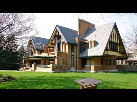 Frank Lloyd Wright Inspired House Plans Design - YouTube