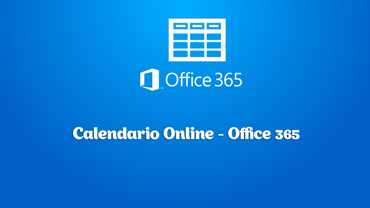 Calendario Office 365.Calendario Online Office 365