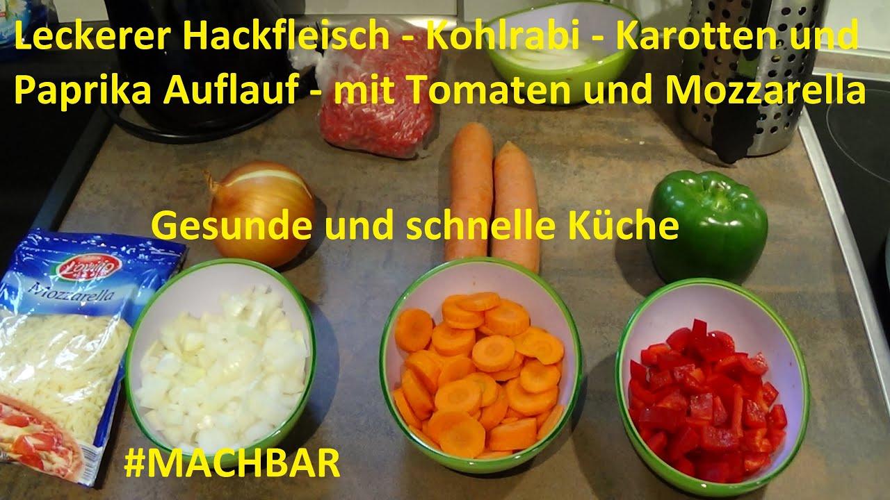 schnelle gesunde küche #06 - hackfleisch - kohlrabi auflauf ... - Gesunde Schnelle Küche