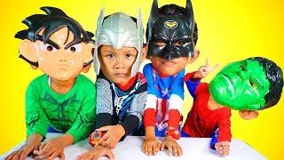 Parody Superhero Salah Topeng, Superhero Hulk Spiderman Kapten Amerika | Wrong Masks Superhero !