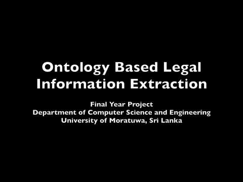 Ontology Based Legal Information Extraction