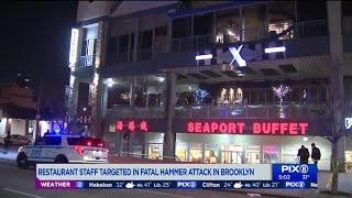 1 dead, 2 critical in hammer attack at Brooklyn buffet