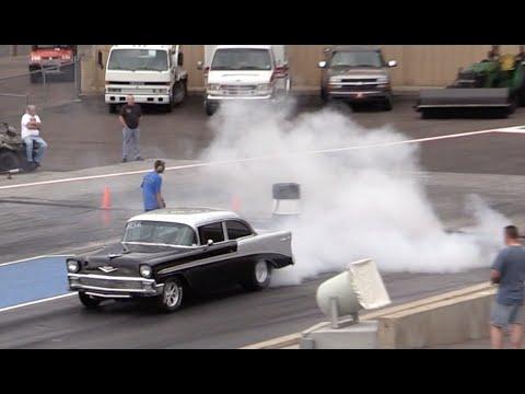 1956 Chevy Bel Air Vs Built Cobra Drag Race Youtube