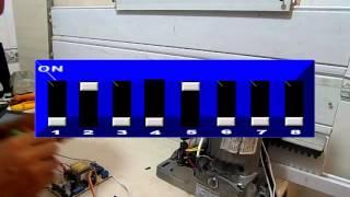 Placa ppa configurar controle, sinaleiro, luz garage e fechadura