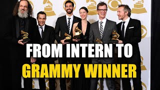 How do you go from INTERN to success in the music industry?
