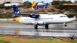 liat atr 72 600 in awesome action the princess juliana int l airport st maarten