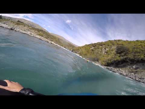 river surfing, just another day in the office with the GoPro (new zealand)