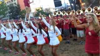 USC Marching Band!!! GO TROJANS!!! FIGHT ON!!! Intro 2012