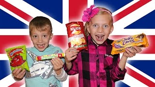 Kids Try Foods From the UK || Universal Yums FAMILY EDITION!