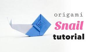 How To Make A Cute Origami Snail! ♥︎ Tutorial ♥︎ DIY ♥︎