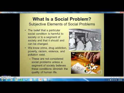 What is a Social Problem?  Objective and subjective elements.