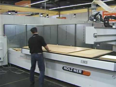 Holz Her Dynestic CNC Machine In Action Creating A Cabinet   YouTube
