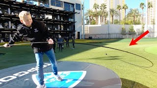 A golf club that is 37 FEET LONG?! We tried to break a world record with Anthony Anderson and TopGolf! Check out the video here: ...