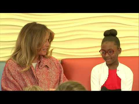 Melania Trump visits childrens hospital