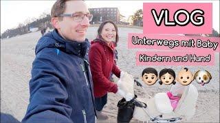UNTERWEGS MIT BABY KINDER HUND | AUSFLUG MIT HINDERNISSEN | GROßFAMILIE AM STRAND | Mamiseelen