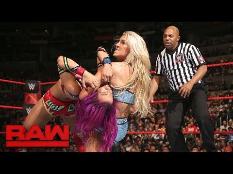 Sasha Banks vs. Charlotte Flair: Raw, Feb. 20, 2017