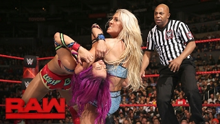 Sasha Banks vs. Charlotte Flair: Raw, Feb. 20, 2017